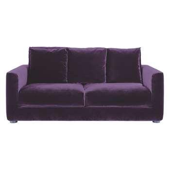 Habitat Rupert Purple Velvet 2 Seater Sofa Bed (86 x 180cm)