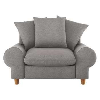 Habitat Scone Grey Acor Fabric Compact Sofa (86 x 136cm)
