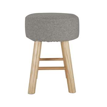 Habitat Small Fabric Footstool - Light Grey (H42 x W32 x D32cm)