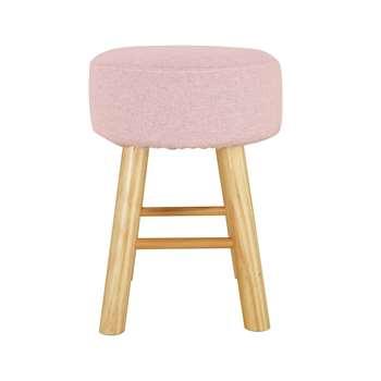 Habitat Small Fabric Footstool - Pink (H42 x W32 x D32cm)