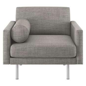 Habitat Spencer Black And White Italian Woven Fabric Armchair, Metal Legs (81 x 94cm)