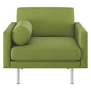 Habitat Spencer Green Wool Armchair, Metal Legs (81 x 94cm)
