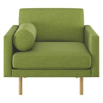Habitat Spencer Green Wool Armchair, Oak Legs (81 x 94cm)