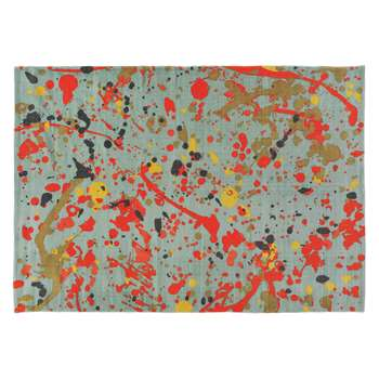 Habitat Splatter Medium Multi-coloured Splatter Printed Cotton Rug (140 x 200cm)