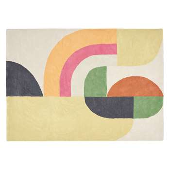 Habitat Stepto Large Multi-Coloured Wool Rug (170 x 240cm)