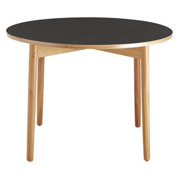 Habitat Suki 2-4 Seat Black Folding Round Dining Table (H73.5 x W100 x D100cm)