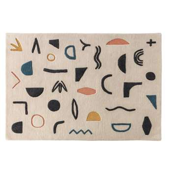 Habitat Symbols Patterned Rug - Multicoloured (H140 x W200cm)