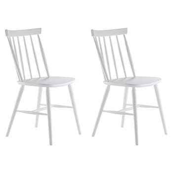 Habitat Talia Pair Of White Spindle Back Dining Chairs (H83.5 x W48 x D51.5cm)