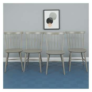 Habitat Talia Set Of 4 Grey Dining Chairs (83.5 x 48cm)