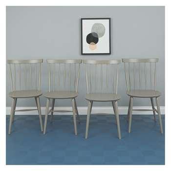 Habitat Talia Set Of 4 Grey Dining Chairs (83.5 x 48cm)