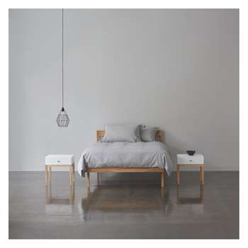 Habitat Tatsuma Ash Tatsuma Ash 150cm Kingsize Bed, Coen Mattress And 2 Bedside Tables