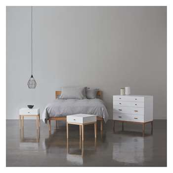 Habitat Tatsuma Ash Tatsuma Ash 150cm Kingsize Bed, Coen Mattress, Chest Of Drawers And 2 Bedsides