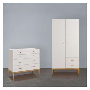 Habitat Tatsuma Ash Tatsuma Ash 2 Door Wardrobe And Chest Of Drawers