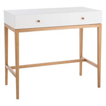 Habitat Tatsuma Ash White Dressing Table (80 x 90cm)