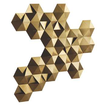 Habitat Tessellate Gold Brushed Metal LED Decorative Wall Light (68 x 57cm)
