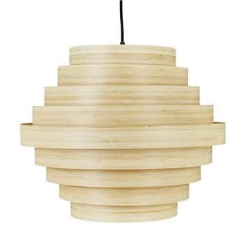 Habitat Thaker Large Bamboo Layered Easy to Fit Shade (H39 x W50 x D50cm)
