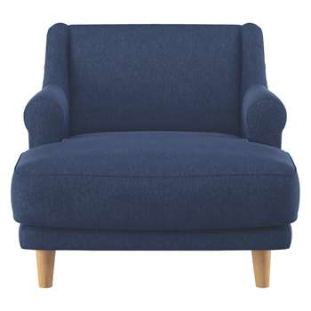 Habitat Townsend Blue Fabric Lounge Chair (72 x 90cm)