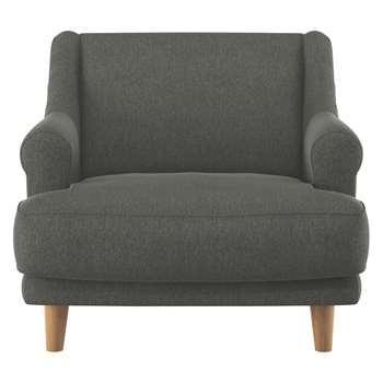 Habitat Townsend Charcoal Fabric Armchair (72 x 90cm)