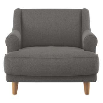 Habitat Townsend Charcoal Tweed Wool Mix Armchair (72 x 90cm)
