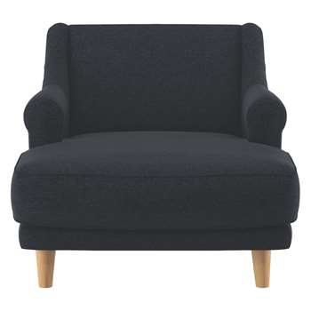 Habitat Townsend Charcoal Wool Lounge Chair (72 x 90cm)