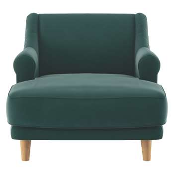 Habitat Townsend Emerald Velvet Lounge Chair (72 x 90cm)