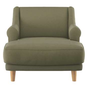 Habitat Townsend Green Wool Lounge Chair (72 x 90cm)