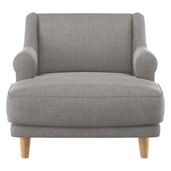 Habitat Townsend Grey Fabric Lounge Chair (72 x 90cm)