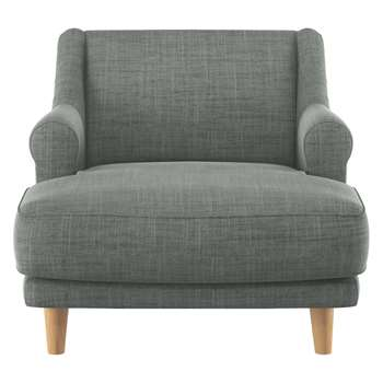 Habitat Townsend Grey Italian Woven Fabric Lounge Chair (72 x 90cm)