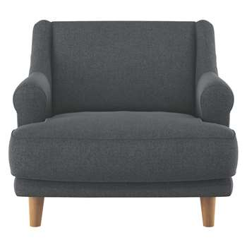 Habitat Townsend Grey Textured Fabric Armchair (72 x 90cm)
