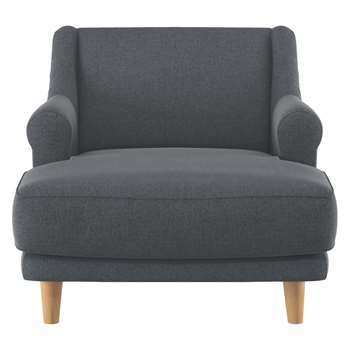 Habitat Townsend Grey Textured Fabric Lounge Chair (72 x 90cm)