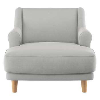 Habitat Townsend Grey Wool Lounge Chair (72 x 90cm)