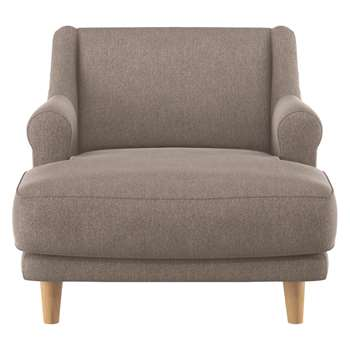 Habitat Townsend Natural Fabric Lounge Chair (72 x 90cm)