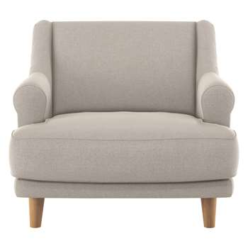 Habitat Townsend Natural Textured Fabric Armchair (72 x 90cm)