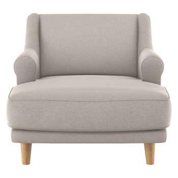 Habitat Townsend Natural Textured Fabric Lounge Chair (72 x 90cm)