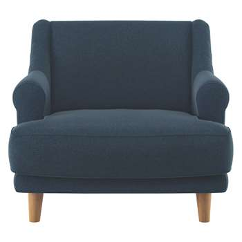 Habitat Townsend Navy Herringbone Wool Mix Armchair (72 x 90cm)