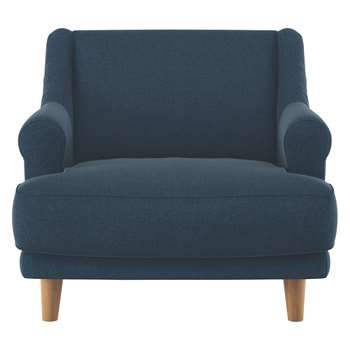 Habitat Townsend Navy Tweed Wool Mix Armchair (72 x 90cm)