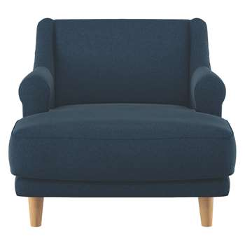 Habitat Townsend Navy Tweed Wool Mix Lounge Chair (72 x 90cm)