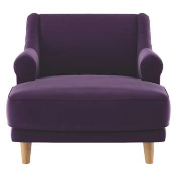Habitat Townsend Purple Velvet Lounge Chair (72 x 90cm)