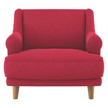 Habitat Townsend Red Textured Fabric Armchair (72 x 90cm)