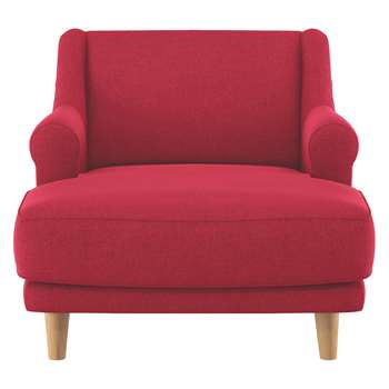 Habitat Townsend Red Textured Fabric Lounge Chair (72 x 90cm)