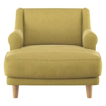 Habitat Townsend Saffron Fabric Lounge Chair (72 x 90cm)