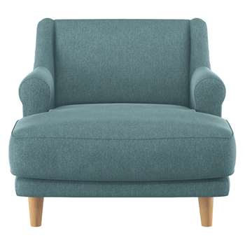 Habitat Townsend Teal Fabric Lounge Chair (72 x 90cm)