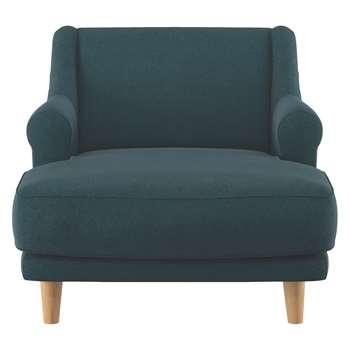 Habitat Townsend Teal Herringbone Wool Mix Lounge Chair (72 x 90cm)