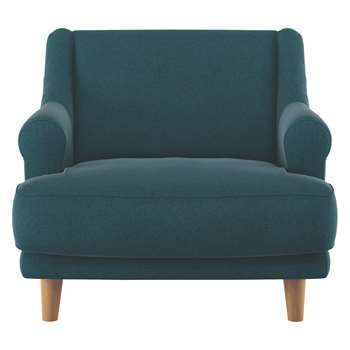 Habitat Townsend Teal Tweed Wool Mix Armchair (72 x 90cm)