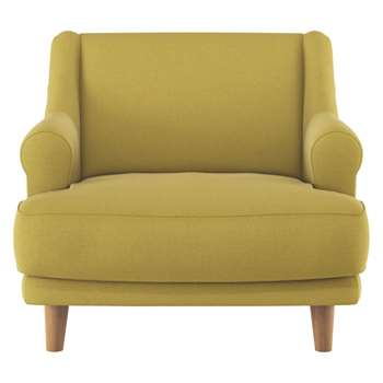 Habitat Townsend Yellow Textured Fabric Armchair (72 x 90cm)