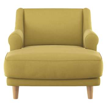 Habitat Townsend Yellow Textured Fabric Lounge Chair (72 x 90cm)