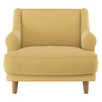 Habitat Townsend Yellow Wool Armchair (72 x 90cm)