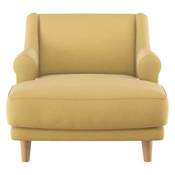 Habitat Townsend Yellow Wool Lounge Chair (72 x 90cm)