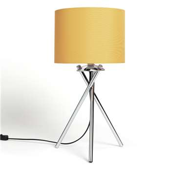 Habitat Tripod Table Lamp - Mustard and Chrome (H46 x W22 x D22cm)