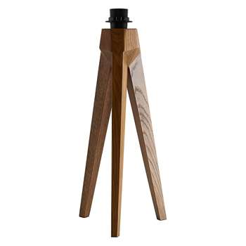 Habitat Tripod Walnut Wooden Tripod Table Lamp Base (40 x 20cm)